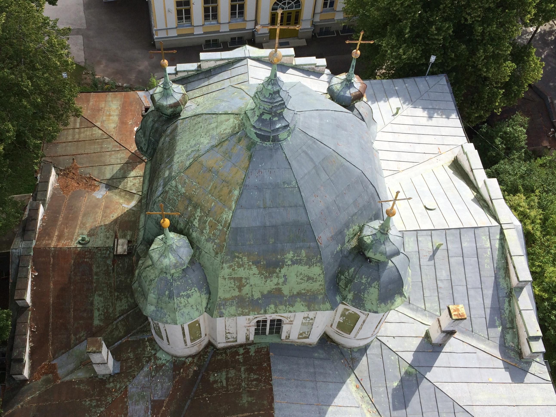 2014 07 17 foto Tartu Jumalema uinumise kiriku katus 2