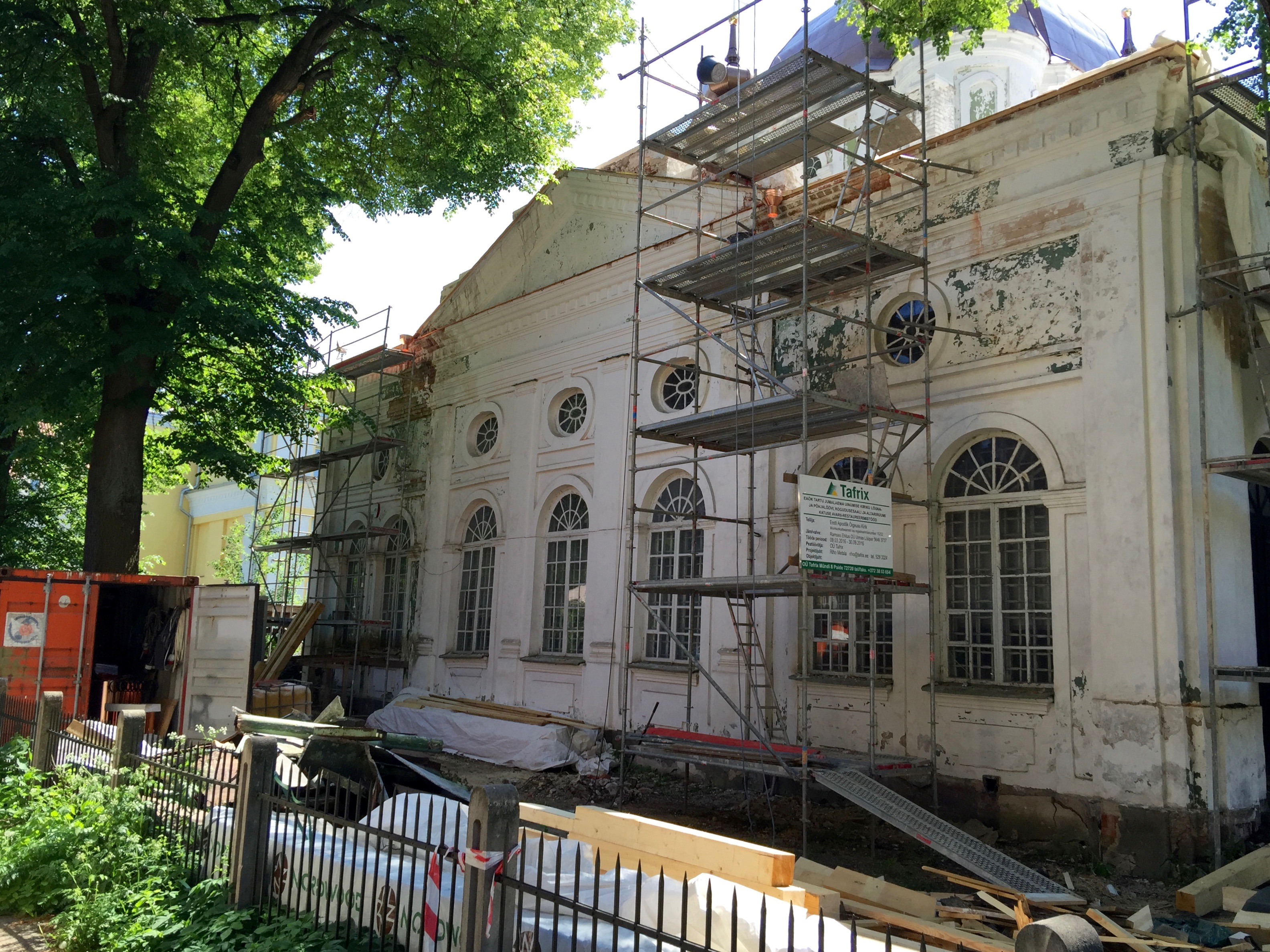 2016 05 31 foto Tartu Uspenski kiriku  katusetööd